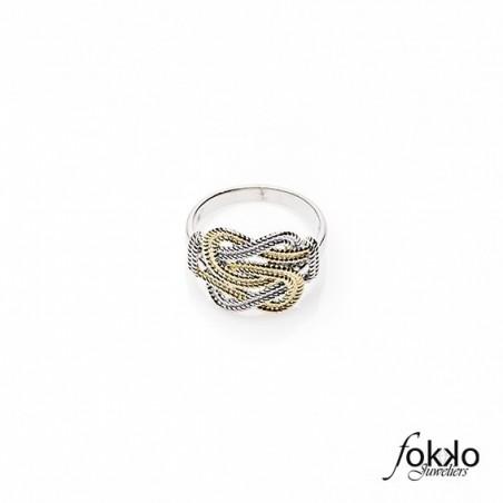 Gouden mattenklopper ring   Fokko Design