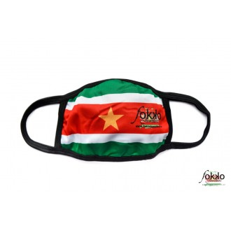Mondkapje Surinaamse vlag - 1