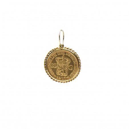 Gouden 10 gulden munt hanger - 2