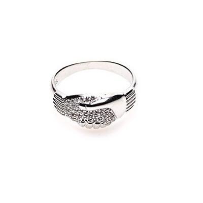 zilveren vriendschapsring met zirkonia Fokko Design